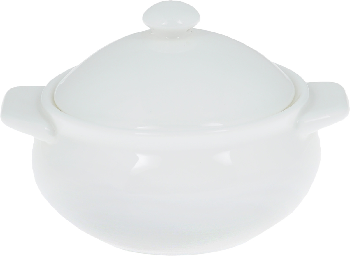 Горшок для запекания Wilmax, 350 млWL-997000 / AГоршок для запекания Wilmax изготовлен из высококачественного фарфора. Изделие подходит для запекания различных блюд и может быть использовано для подачи на стол. Горшок снабжен крышкой и двумя ручками. Такое изделие станет отличным дополнением к вашему кухонному инвентарю, оно украсит сервировку стола и подчеркнет прекрасный вкус хозяина. Можно использовать в микроволновой печи.Диаметр (по верхнему краю): 10,5 см. Ширина (с учетом ручек): 14 см. Высота стенки: 6 см.