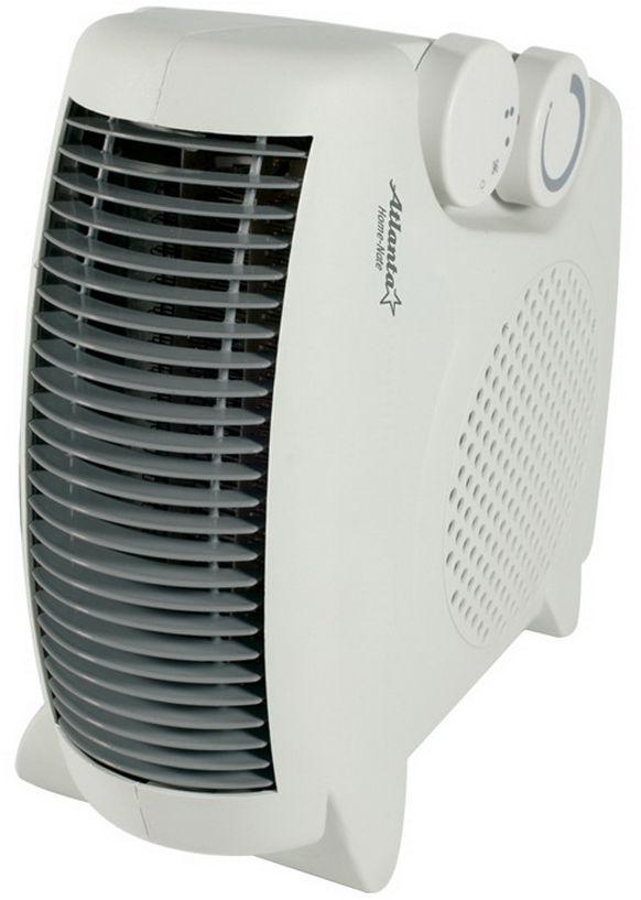 Atlanta ATH-7283 тепловентиляторATH-7283ТепловентиляторATH-7283 служит для быстрого прогрева помещения с наименьшими затратами электроэнергии. Принудительно нагнетая горячий воздух, тепловентилятор заставляет его циркулировать, смешиваясь с холодным, благодаря чему прогрев помещения происходит значительно быстрее, чем в случае обычных обогревателей. Тепловентилятор ATH-7283 может работать в режиме обычного вентилятора, а также нагнетать теплый или горячий воздух. Используя разные режимы работы можно добиться установления в помещении устойчивого и комфортного микроклимата. Материал корпуса - термостойкий пластик абсолютно безвреден и соответствует всем стандартам безопасности. 3 режима работы Режим вентилятора без нагрева, режим теплого потока воздуха и режим горячего потока воздуха.Как выбрать обогреватель. Статья OZON Гид