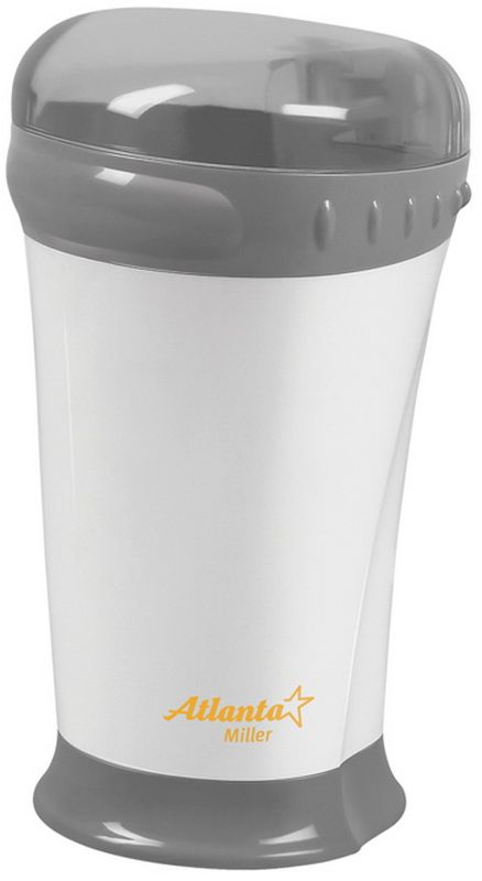 Atlanta ATH-276, White кофемолкаATH-276Мощная кофемолка Atlanta ATH-276 с острым ножом из нержавеющей стали способна быстро перемолоть кофейные зерна. Корпус из высококачественного пластика и плотно закрывающаяся крышка обеспечивают надежность конструкции. Кофемолка Atlanta ATH-276 идеально перемелет зерна для приготовления любимого вами бодрящего напитка.