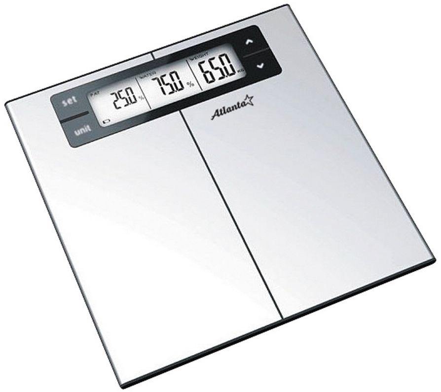 Atlanta ATH-818 весы напольныеATH-818Сверхтонкие напольные весы Atlanta ATH-818 это высокоточный прибор, который быстро и эффективно измерит вес пользователя. Имеют устойчивую и особо прочную стеклянную платформу, что позволяет выдерживать большую нагрузку.