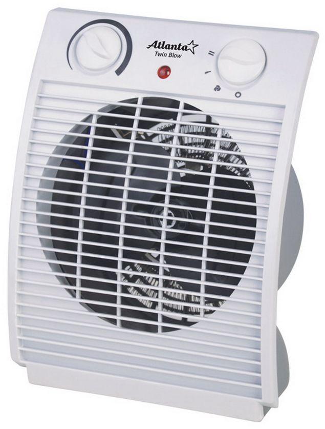 Atlanta ATH-7282 тепловентиляторATH-7282ТепловентиляторATH-7282 служит для быстрого прогрева помещения с наименьшими затратами электроэнергии. Принудительно нагнетая горячий воздух, тепловентилятор заставляет его циркулировать, смешиваясь с холодным, благодаря чему прогрев помещения происходит значительно быстрее, чем в случае обычных обогревателей. Тепловентилятор ATH-7282 может работать в режиме обычного вентилятора, а также нагнетать теплый или горячий воздух. Используя разные режимы работы можно добиться установления в помещении устойчивого и комфортного микроклимата. Материал корпуса - термостойкий пластик абсолютно безвреден и соответствует всем стандартам безопасности. 3 режима работыРежим вентилятора без нагрева, режим теплого потока воздуха и режим горячего потока воздуха.