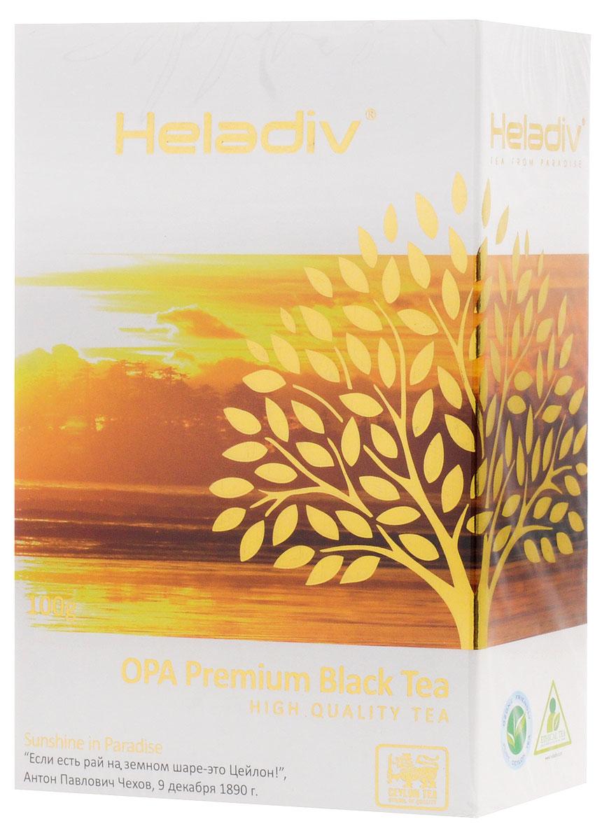 Heladiv Opa чай черный листовой, 100 г4791007008347Heladiv Opa - цейлонский черный крупнолистовой цельный скрученный байховый чай, класс А (ОРА). Обладает приятным, насыщенным вкусом, изысканным ароматом и настоем темного цвета. Укрепляет сосуды, утоляет жажду, стимулирует работу мозга, освежает и тонизирует организм.Всё о чае: сорта, факты, советы по выбору и употреблению. Статья OZON Гид