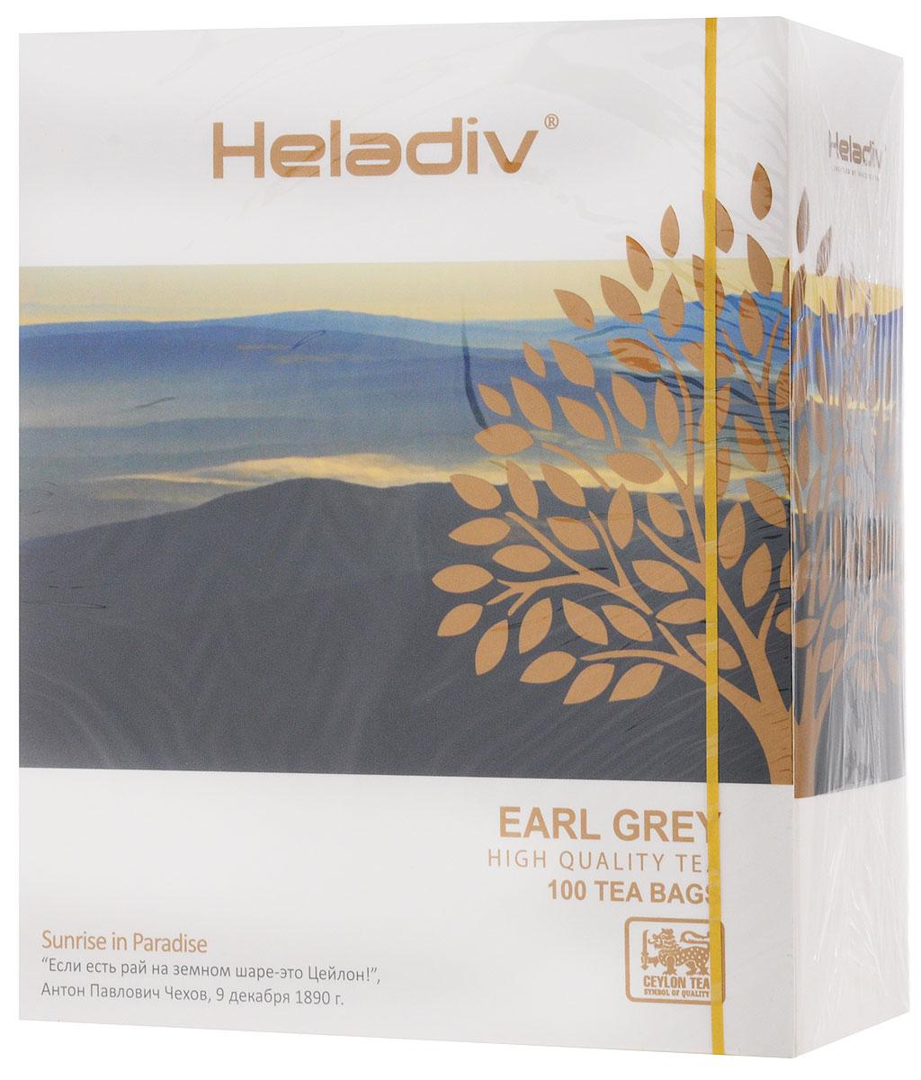 Heladiv Earl Grey чай черный с ароматом бергамота в пакетиках, 100 шт чай heladiv hd round p t blueberry 100 gr черный heladiv