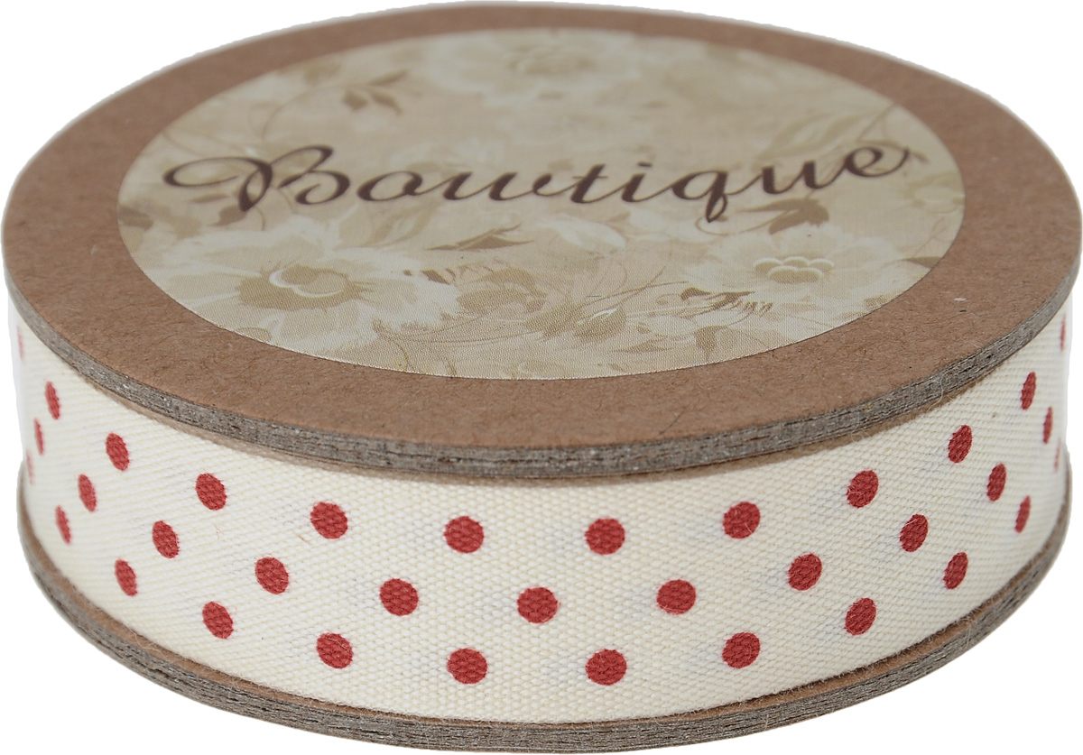 Лента хлопковая Hemline Точки, цвет: молочный, красный, 1,5 х 500 смVR15.024Лента на картонной катушке Hemline Точки выполнена из хлопка и оформлена принтом в горошек. Такая лента идеально подойдет для оформления различных творческих работ, может использоваться для скрапбукинга, создания аппликаций, декора коробок и открыток, часто ее применяют при пошиве одежды, сумок, аксессуаров. Лента наивысшего качества практична в использовании. Она станет незаменимым элементом в создании вашего рукотворного шедевра.