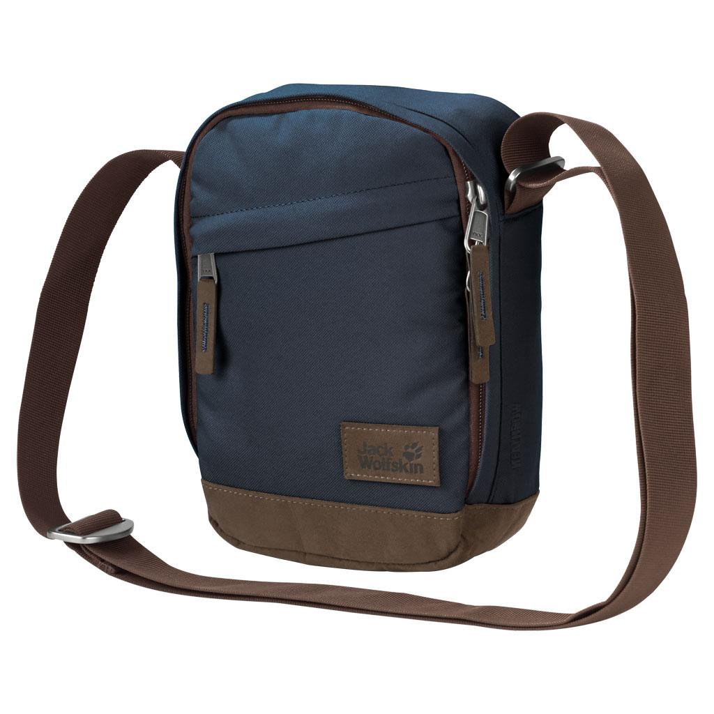 Сумка на плечо мужская Jack Wolfskin Heathrow, цвет: темно-синий, 2 л. 2004132-1010 сумки jack wolfskin сумка cross run 2