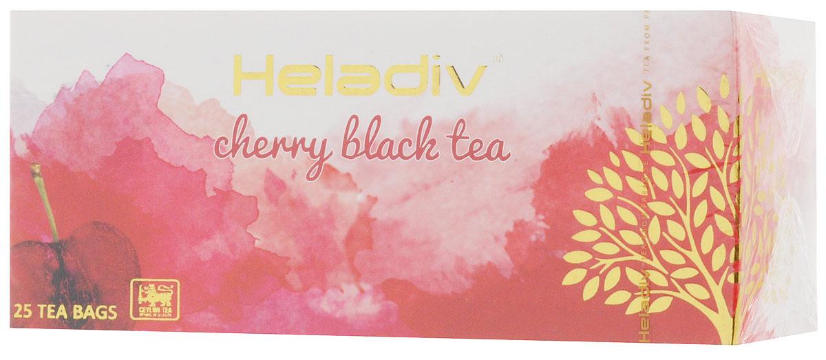 Heladiv Cherry чай черный в пакетиках с ароматом вишни, 25 шт heladiv cherry чай черный в пакетиках с ароматом вишни 25 шт