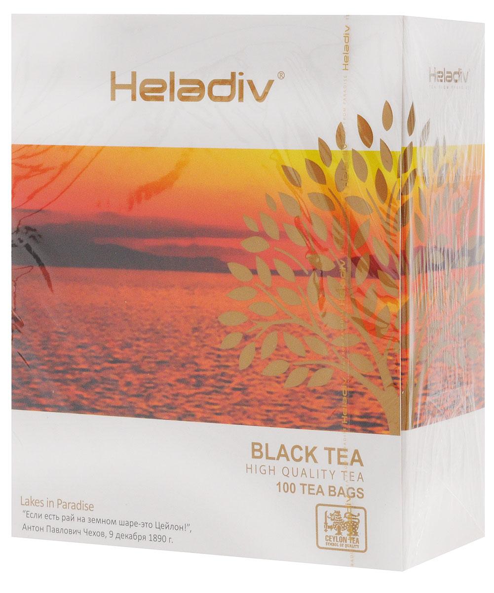 Heladiv Black Tea чай черный в пакетиках, 100 шт heladiv green tea чай зеленый в пакетиках 25 шт