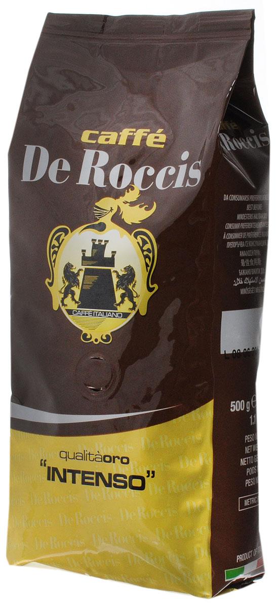 De Roccis Oro Intenso кофе в зернах, 500 г8016115000295De Roccis Oro Intenso - кофейная смесь, наделяющая эспрессо глубоким вкусом, а специальная обжарка придает напитку незабываемый насыщенный аромат.Кофе: мифы и факты. Статья OZON Гид