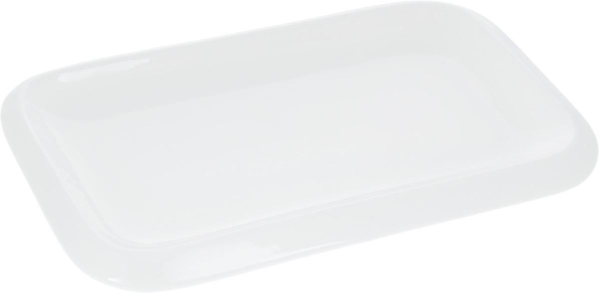 """Оригинальное прямоугольное блюдо """"Wilmax"""", изготовленное из фарфора, прекрасно подойдет для подачи нарезок, закусок и других блюд. Оно украсит ваш кухонный стол, а также станет замечательным подарком к любому празднику. Размер блюда (по верхнему краю): 30 х 18 см."""