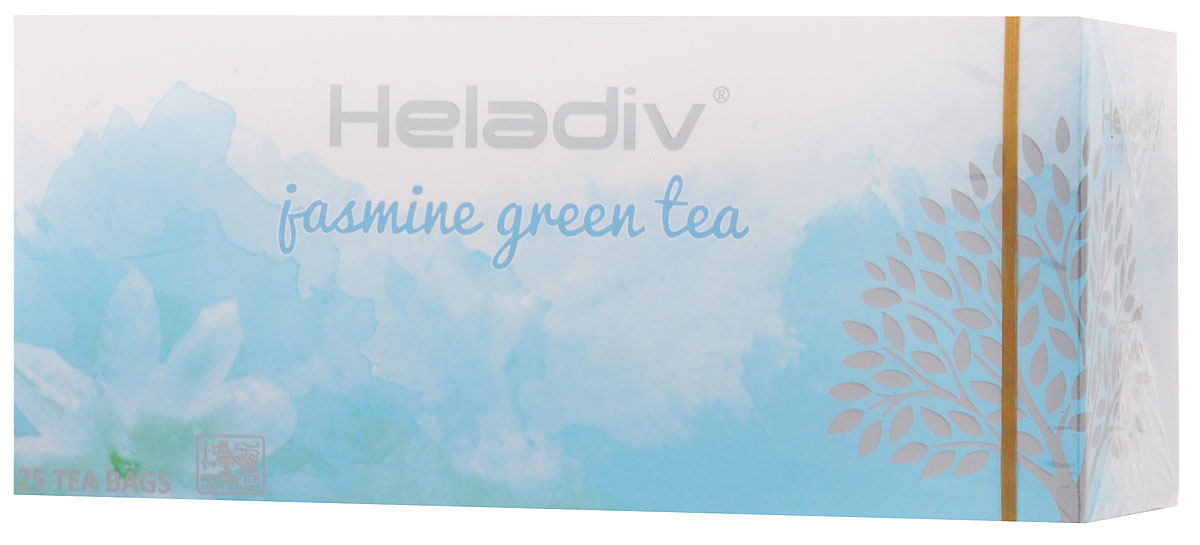Heladiv Jasmine Green Tea чай зеленый в пакетиках с ароматом жасмина, 25 шт4791007008514Сочетание элитного цейлонского чая с ароматом жасмина в Heladiv Jasmine Green Tea подарит вам незабываемое ощущение легкости. Пакетированный зеленый чай Heladiv обладает приятным вкусом, насыщенным ароматом жасмина и ярким настоем.