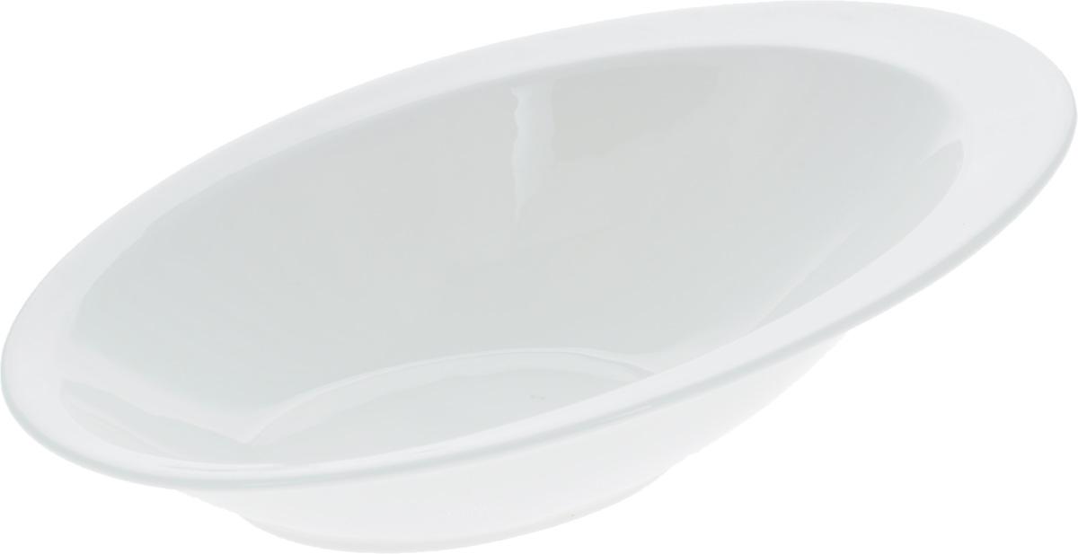 """Салатник """"Wilmax"""", изготовленный из высококачественного  фарфора с глазурованным покрытием, прекрасно подойдет  для подачи различных блюд: закусок, салатов, фруктов и  многого другого.  Такой салатник украсит ваш праздничный или обеденный стол,  а оригинальный дизайн придется по вкусу и ценителям  классики, и тем, кто предпочитает утонченность и  изысканность.  Размер салатника (по верхнему краю): 27,5 х 18,5 см."""