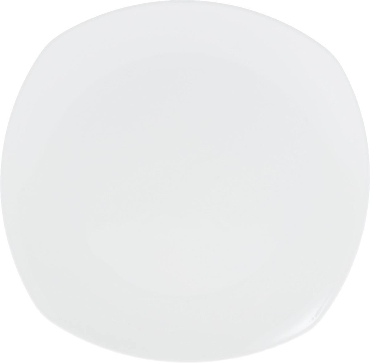 """Оригинальное блюдо """"Wilmax"""", изготовленное из  высококачественного фарфора, прекрасно подойдет для подачи  нарезок, закусок и других блюд. Оно украсит ваш кухонный стол,  а также станет замечательным подарком к любому празднику.  Размер блюда (по верхнему краю): 29,5 х 29,5 см."""