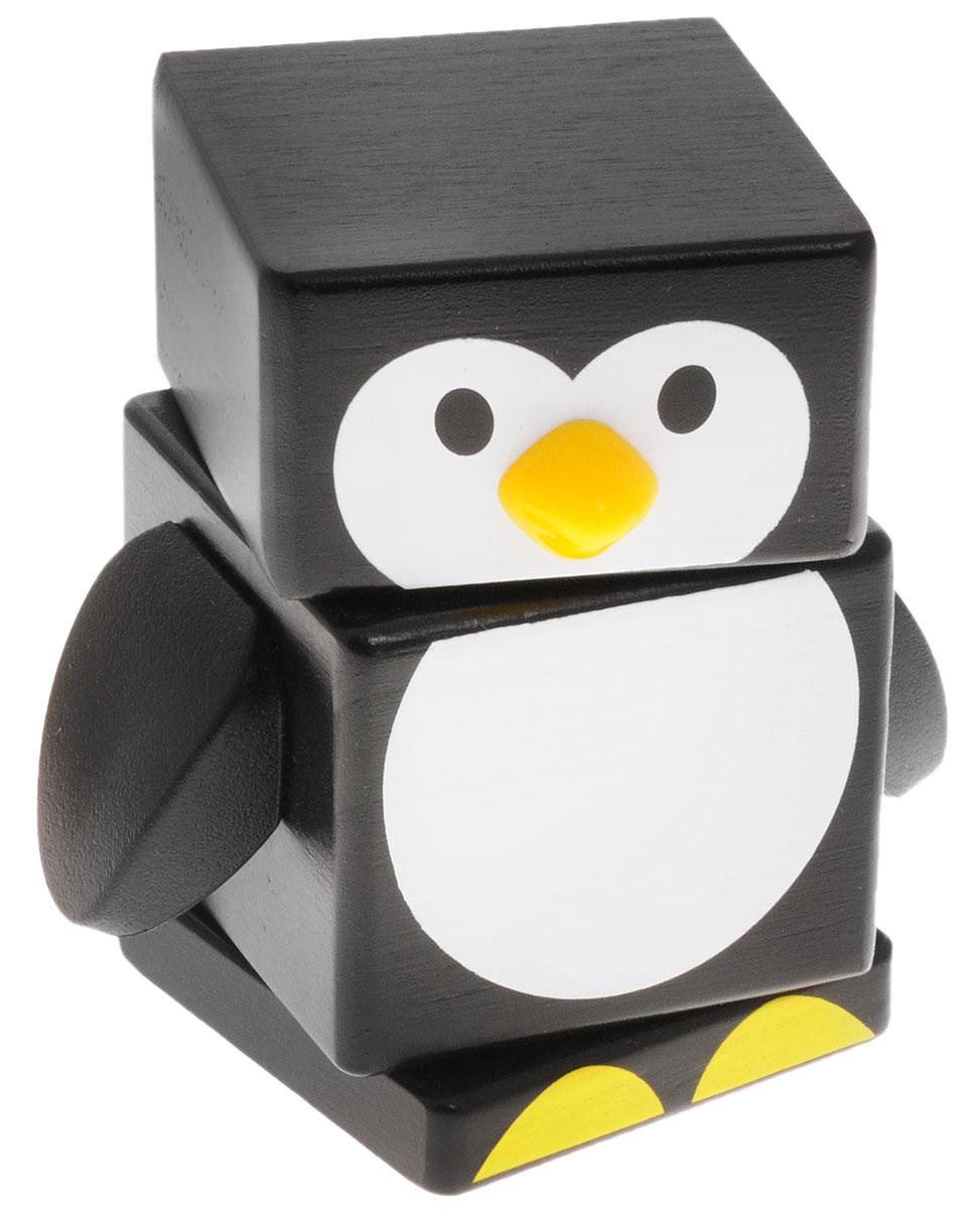 Бомик Пирамидка Пингвин мир деревянных игрушек пирамидка каталка мальчик и девочка