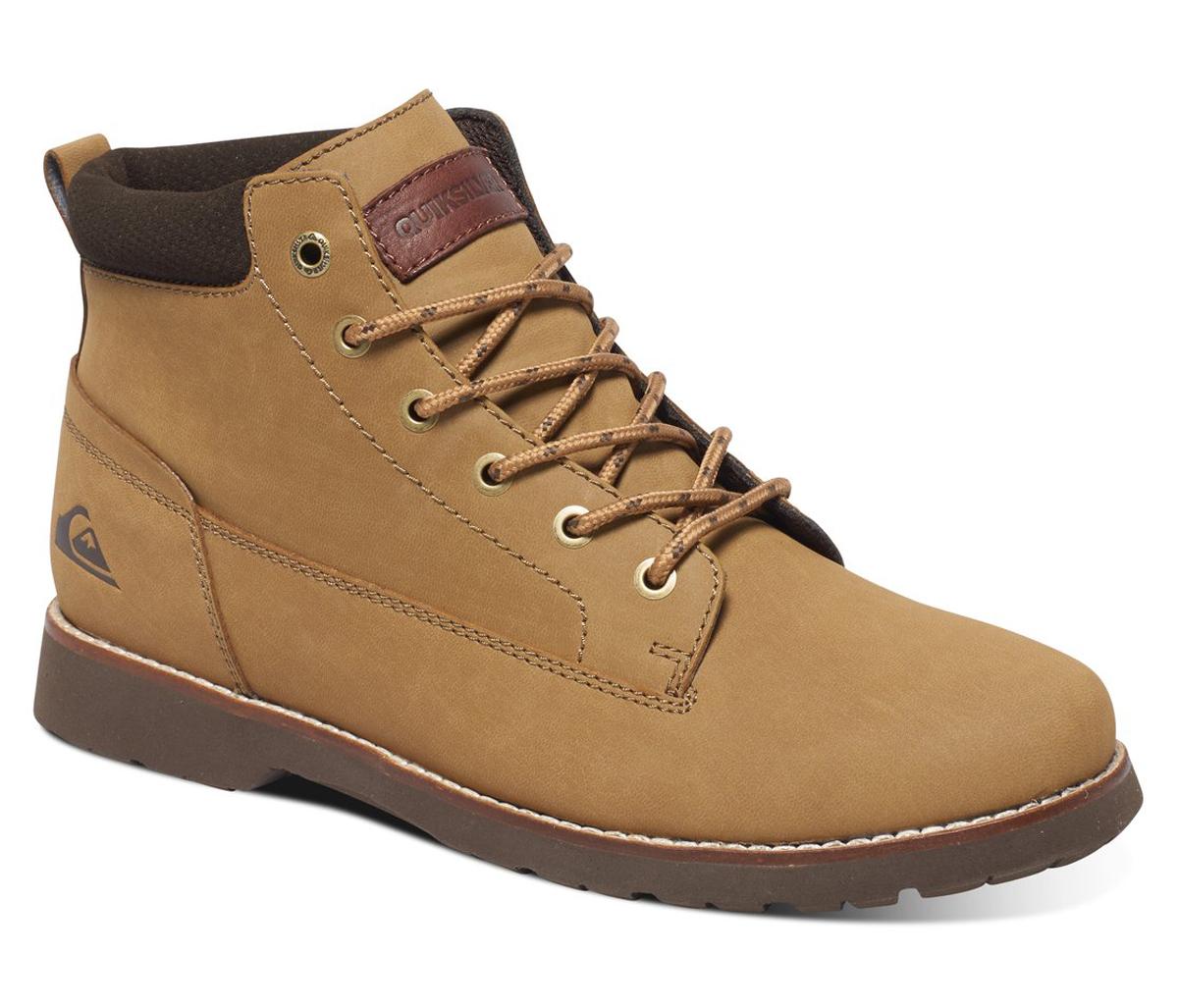 Ботинки мужские Quiksilver Mission II, цвет: светло-коричневый. AQYB700022-TKD0. Размер 6 (39)AQYB700022-TKD0Мужские ботинки Mission II от Quiksilver выполнены из натуральной кожи. Классическая шнуровка надежно зафиксирует модель на ноге. Удобные люверсы в стиле бордшортов позволяют быстро снимать и надевать ботинки. Многослойная стелька с функцией поддержки подъема стопы обеспечивает комфорт при движении.