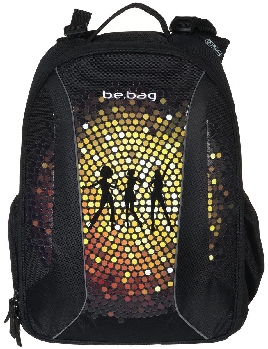 Herlitz Ранец школьный Be Bag Dance11410008Школьный ранец Herlitz Be Bag. Dance изготовлен по жестко-каркасной технологии, что обеспечивает правильную эргономичную форму. Каркас не деформируется при нагрузке и распределяет вес по всей площади ранца.Ранец содержит два вместительных отделения, закрывающихся на застежки-молнии с двумя бегунками. В большом отделении находится мягкая перегородка для тетрадей или учебников, фиксирующаяся хлястиком на липучке. Во втором отделении расположены карман-сетка, органайзер для канцелярских принадлежностей, кармашек под мобильный телефон и лента с карабином для ключей. Изделие имеет два открытых боковых кармана на резинках.Ранец оснащен регулируемыми по длине плечевыми лямками и дополнен текстильной ручкой для переноски в руке. Грудное крепление создано специально для фиксации лямок на плечах ребенка. Прочное дно с пластиковыми ножками придает ранцу хорошую устойчивость и защиту от загрязнений. Светоотражающие элементы обеспечивают безопасность в темное время суток.Многофункциональный школьный ранец станет незаменимым спутником вашего ребенка в походах за знаниями.