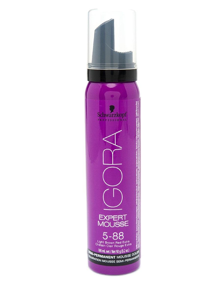 Igora Expert Mousse - Тонирующий мусс 5-88 для волос Светлый коричневый красный экстра 100 мл1794085/1658363Замечательное средство подарит вашим локонам изумительный, глубокий цвет.Продукт позаботится о здоровье волос, укрепив их, сделав крепкими и эластичными.Мусс не проникает в структуру, а лишь обволакивает их и постепенно смывается.Роскошные, ухоженные, с великолепным насыщенным цветом. Крепкие, послушные и шелковистые. Именно такими ваши волосы сделает тонирующий мусс от Schwarzkopf. Замечательное средство подарит вашим локонам изумительный, глубокий цвет. Продукт позаботится о здоровье волос, укрепив их, сделав крепкими и эластичными.Представленный мусс окутает ваши локоны бесподобным цветом. Самое главное, что для этого вам нужно лишь нанести средство на волосы и подождать пять минут. Если желаете получить более насыщенный оттенок – двадцать минут. В отличие от краски для волос, мусс не проникает в структуру, а лишь обволакивает их и постепенно смывается Приобретите тонирующий мусс от Schwarzkopf, и он в считанные мгновения подарит вашим волосам роскошный цвет, сделав их еще краше.