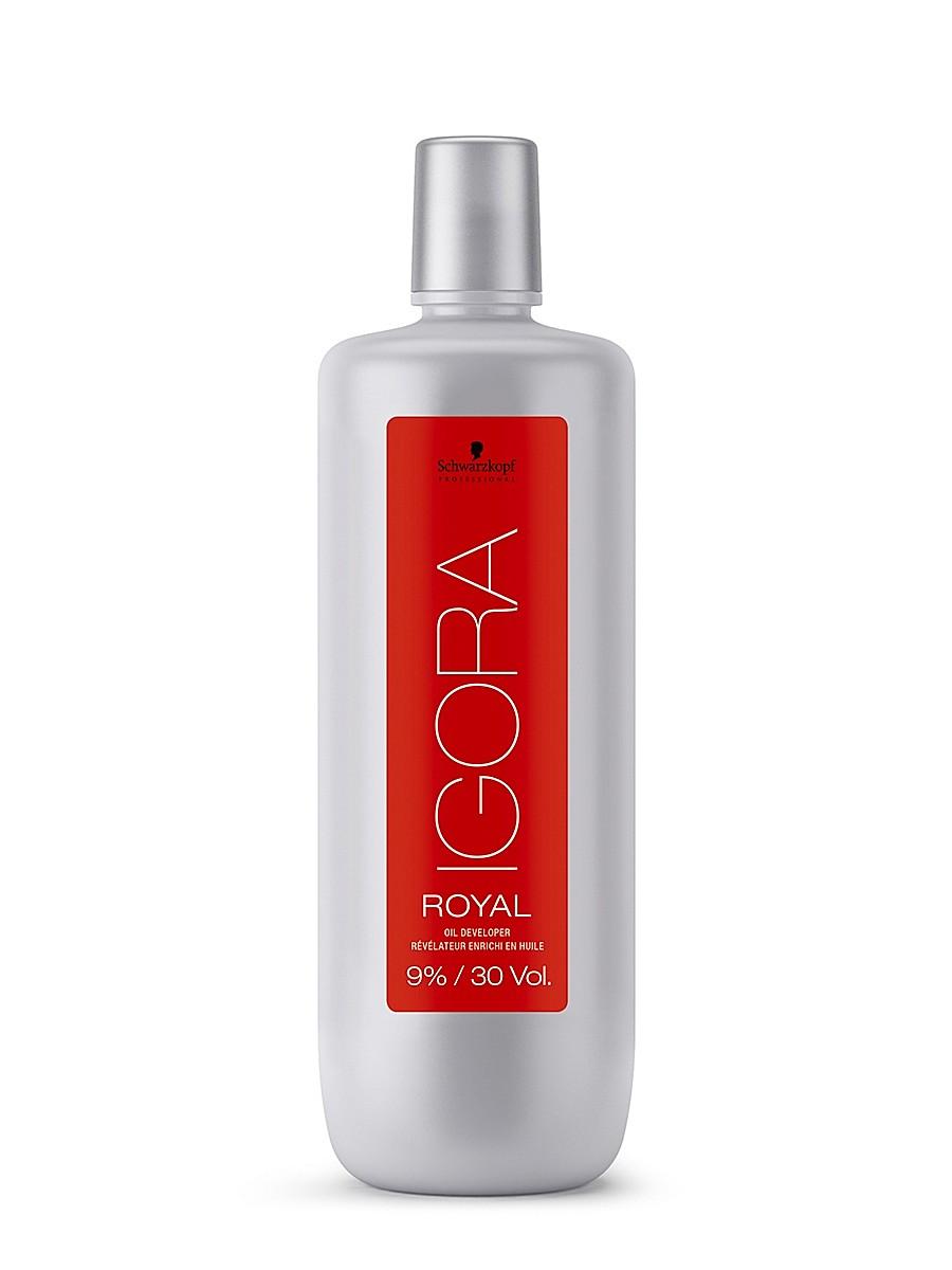 Igora Royal 9% - Лосьон-окислитель 1000 мл1634435/183092Лосьон-окислитель для применения со всем ассортиментом Igora Royal и осветляющим порошком Igora Vario Blond Plus. 9%