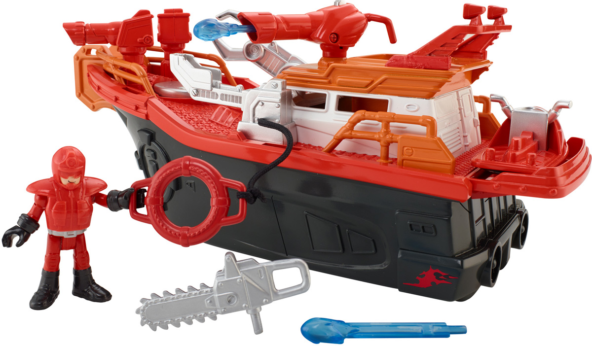 Imaginext Пожарная лодка - Транспорт, машинки