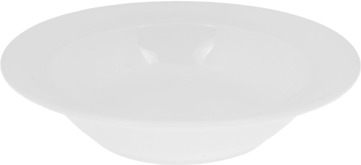 """Глубокая тарелка """"Wilmax"""", выполненная из  высококачественного фарфора, предназначена для подачи супов и других жидких  блюд. Она прекрасно впишется в  интерьер вашей кухни и станет достойным дополнением  к кухонному инвентарю.  Тарелка """"Wilmax"""" подчеркнет прекрасный вкус хозяйки  и станет отличным подарком."""