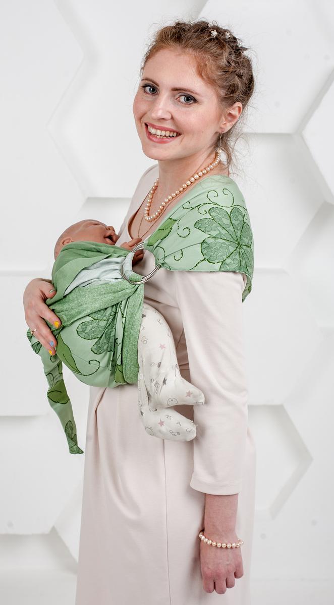Мамарада Слинг с кольцами Луиза размер М кольца для слинга купить