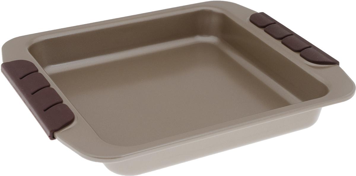 Форма для запекания Pomi d'Oro Spumante, квадратная, с антипригарным покрытием, 23 см77.858@23649 / Q2311 SpumanteФорма для запекания Pomi dOro Spumante изготовлена из углеродистой стали с антипригарным керамическим покрытием Kerano. Керамическое покрытие Kerano позволяет готовить практически без использования масла. Такая посуда отличается хорошей стойкостью к внешним воздействиям и не деформируется при нагревании. Утолщенное дно обеспечивает равномерное распределение и длительное сохранение тепла. Форма снабжена удобными силиконовыми ненагревающимися вставками. Пища в такой форме не пригорает и не прилипает к стенкам. Форма станет полезным приобретением для вашей кухни и сделает приготовление любимых блюд намного проще. Можно мыть в посудомоечной машине. Подходит для всех видов духовок. Внутренний размер формы: 23 х 23 см. Размер формы (с учетом ручек):30 х 25 см. Высота стенки: 4 см.