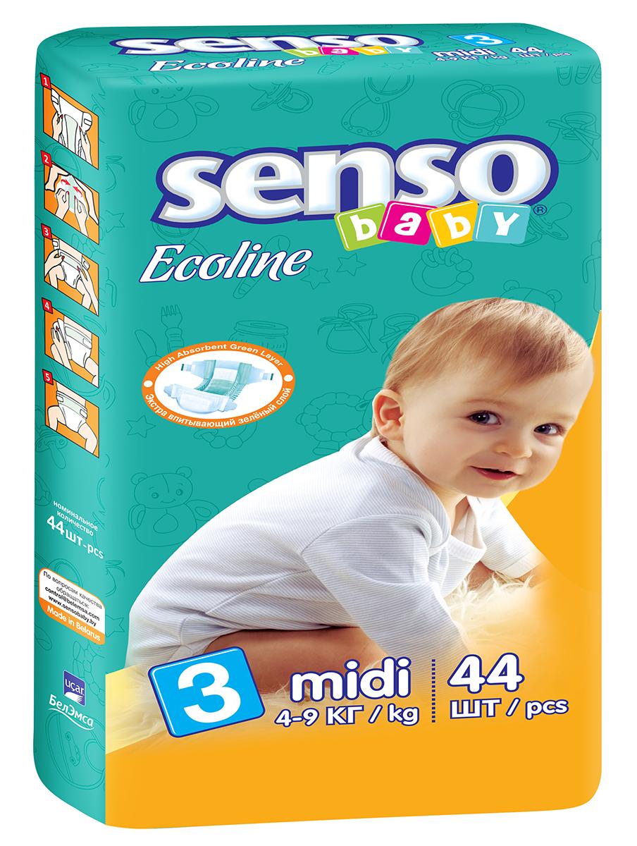Senso Baby Ecoline Подгузники Midi 4-9 кг 44 шт onex 3d pic ecoline explore