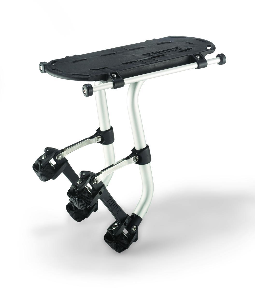 Багажник велосипедный Thule Tour Rack-Full100016Запатентованный багажник для велосипеда Thule Tour Rack-Full — это надежность и универсальность. Thule Tour Rack-Full подходит для любого велосипеда, обеспечит комфортную перевозку вещей.Отлично совместим с сумками Thule, но при помощи адаптера (опционально) возможна установка на багажник любых сумок. Багажник оснащен запатентованной системой установки, при изготовлении применяются высококачественные материалы.Максимальная грузоподъемность 25 кг.Система установки подходит для любых велосипедов.Монтаж над задним или передним колесами.Совместимость с любым материалом рам.Бесшумность конструкции, не создает вибраций даже в условиях неровных дорог.