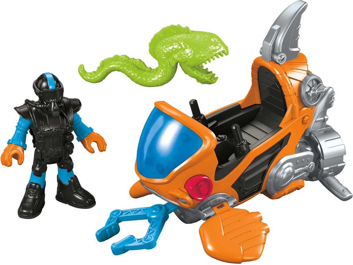 Imaginext Мини-подводная лодка игрушка водная душ подводная лодка и кит yookidoo