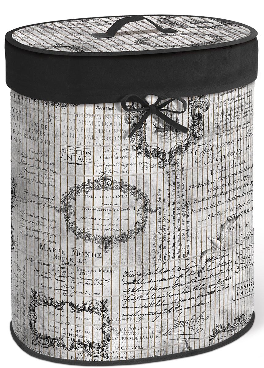 Корзина для белья Valiant Expedition Vintage, складная, с крышкой, цвет: серый, черный, 30 х 40 х 55 смEXP-VBB-XLКорзина для белья Valiant Expedition Vintage изготовлена из бамбука и предназначена для сбора и хранения вещей перед стиркой. Корзина имеет каркасную конструкцию, которая обеспечивает легкость складывания и раскладывания корзины. Компактная и легкая, она не занимает много места, аккуратно хранит белье. Изделие оснащено легкой крышкой. Корзина для белья Valiant Expedition Vintage со стильным дизайном гармонично смотрится в современном интерьере и станет незаменимым аксессуаром.