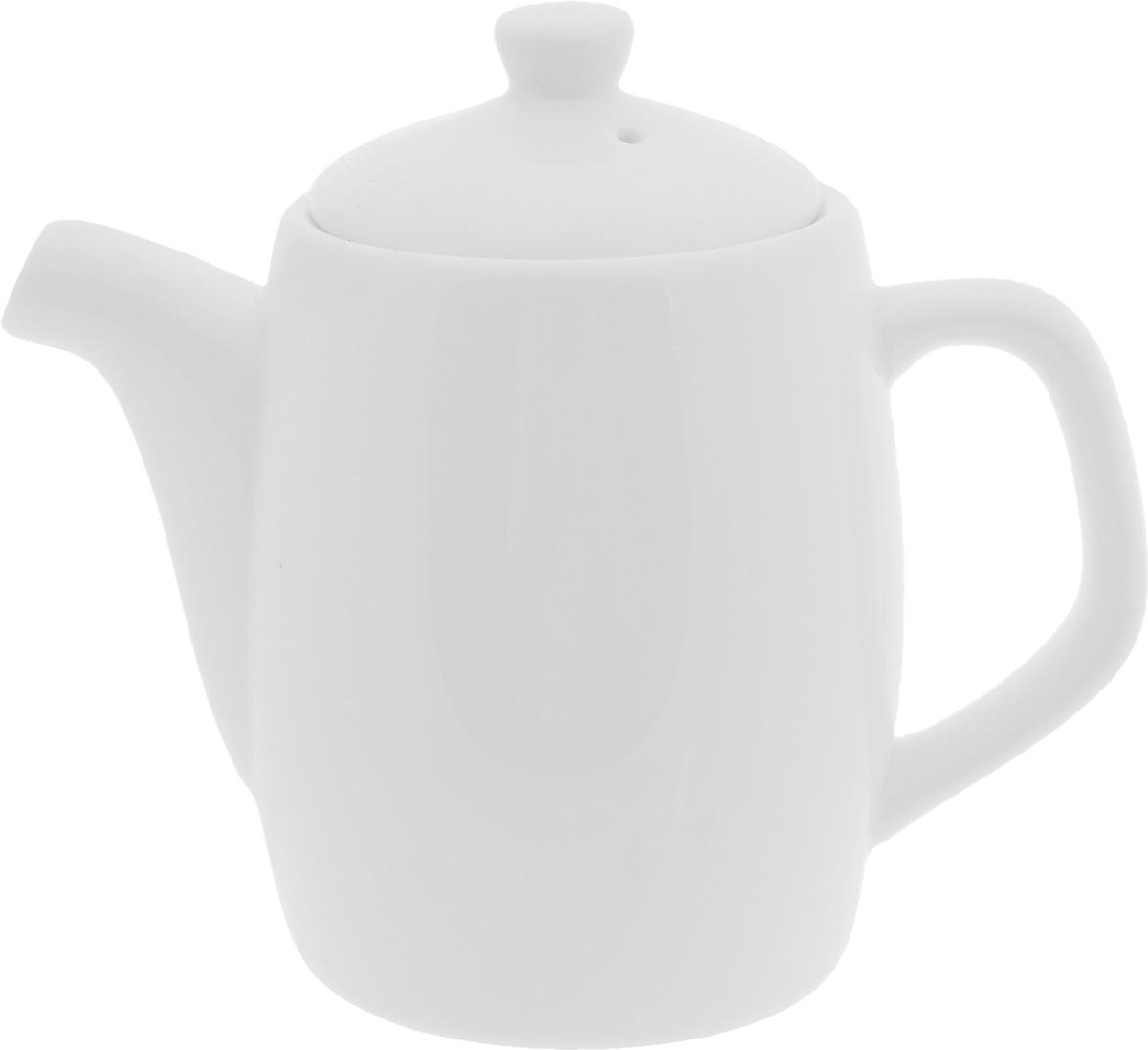 Чайник заварочный Wilmax, 350 млWL-994005 / 1CЗаварочный чайник Wilmax изготовлен из высококачественного фарфора. Глазурованное покрытие обеспечивает легкую очистку. Изделие прекрасно подходит для заваривания вкусного и ароматного чая, а также травяных настоев. Ситечко в основании носика препятствует попаданию чаинок в чашку. Оригинальный дизайн сделает чайник настоящим украшением стола. Он удобен в использовании и понравится каждому.Можно мыть в посудомоечной машине и использовать в микроволновой печи. Диаметр чайника (по верхнему краю): 7 см. Высота чайника (без учета крышки): 10 см.