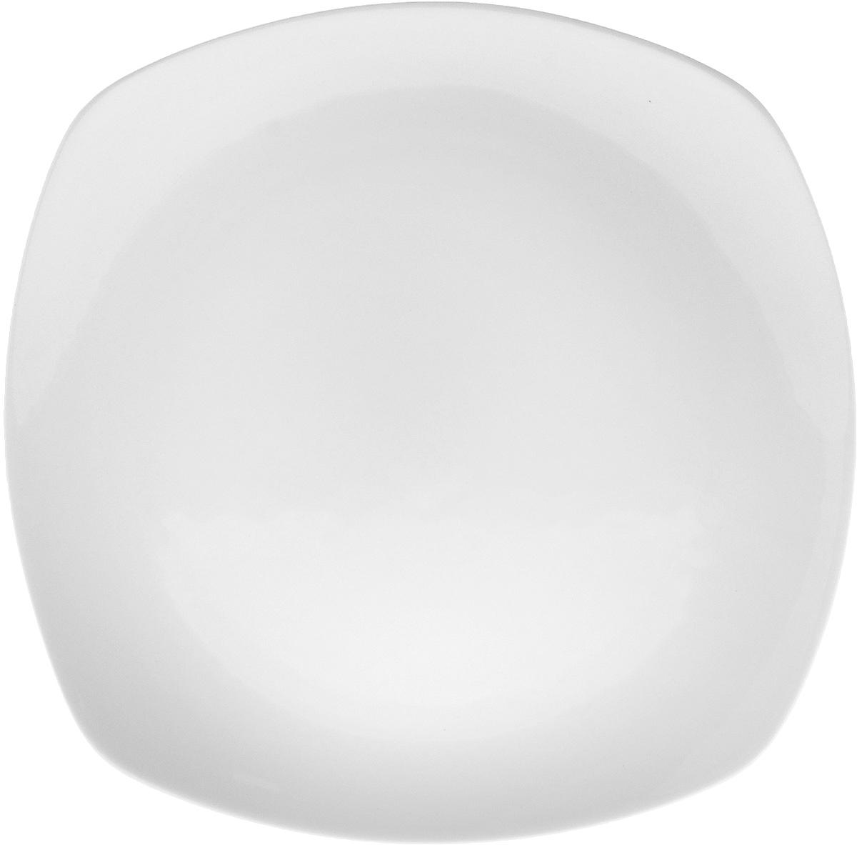 Тарелка Wilmax, 25,5 х 25,5WL-991002 / AТарелка Wilmax, изготовленная из высококачественного фарфора, имеет квадратную форму. Оригинальный дизайн придется по вкусу и ценителям классики, и тем, кто предпочитает утонченность и изысканность. Тарелка Wilmax идеально подойдет для сервировки стола и станет отличным подарком к любому празднику.Размер тарелки: 25,5 х 25,5
