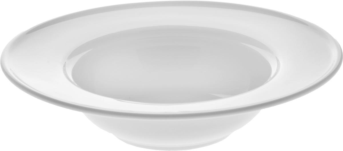 Тарелка глубокая Wilmax, диаметр 23 см. WL-991020 / A003222Глубокая тарелка Wilmax, выполненная извысококачественного фарфора, предназначена для подачи супов и других жидкихблюд. Она прекрасно впишется винтерьер вашей кухни и станет достойным дополнениемк кухонному инвентарю.Тарелка Wilmax подчеркнет прекрасный вкус хозяйкии станет отличным подарком.