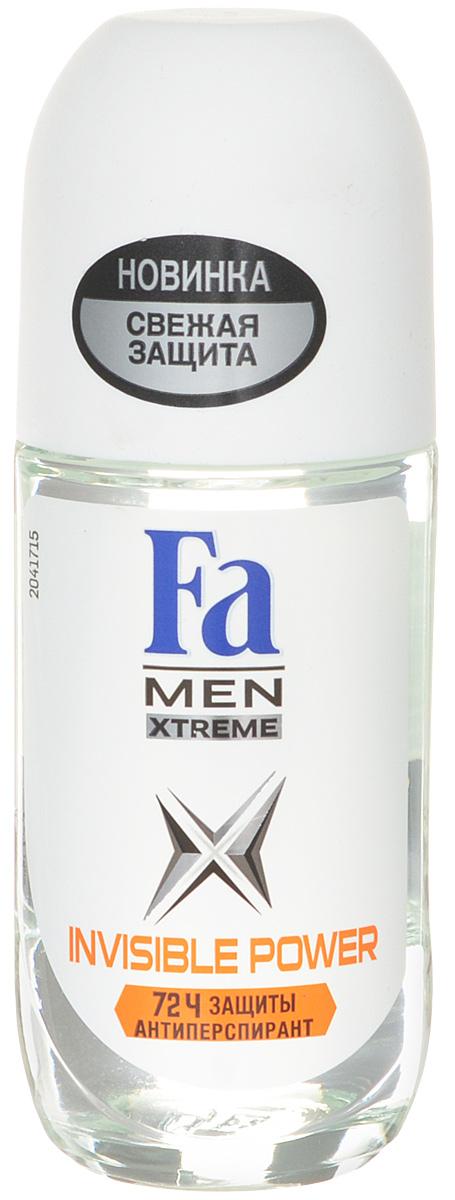 FA MEN Xtreme Дезодорант роликовый Invisible, 50 мл12085438Fa Men Invisible Power – Защита против пота, запаха и следов. Специальная формула обеспечивает надежную защиту от белых, желтых и масляных следов на одежде. Научно доказано: 72ч защиты от пота и запаха Хорошая переносимость кожей подтверждена дерматологами.Также почувствуйте притягательную свежесть, принимая душ с гелем для душа Fa Men.