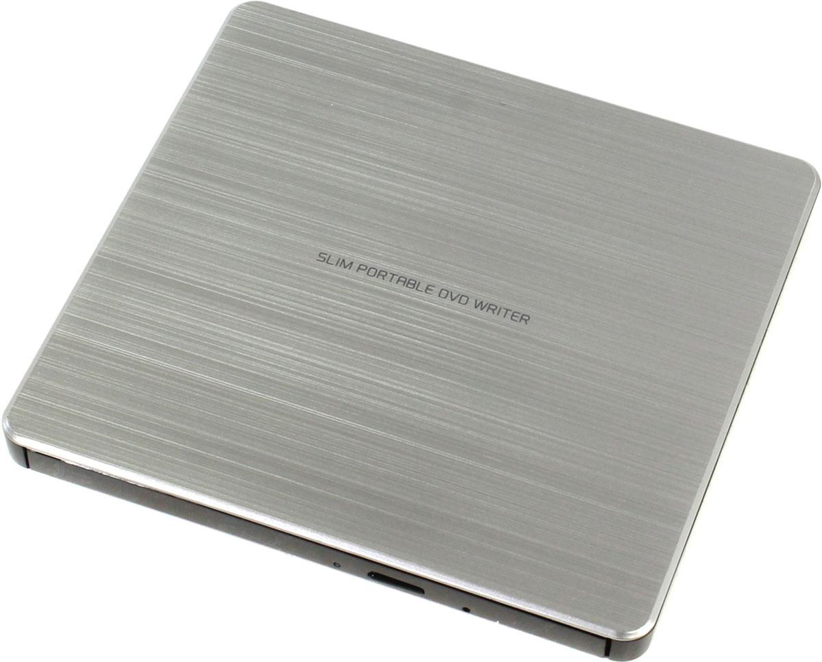 LG GP60NS60, Silver внешний оптический приводGP60NS60Компактный внешний DVD-привод LG GP60NS60 станет отличным решением для ультрабуков и нетбуков, лишенных встроенных оптических приводов. Устройство подключается к персональному компьютеру посредством интерфейса USB 2.0 и поддерживает чтение и запись большинства современных форматов оптических носителей. Данная модель также отличается быстротой и минимальным уровнем шума при работе.Скорость чтения CD-R/RW: 24x Max; DVD-RAM: 5x, DVD+/-RW: 8x/6x; DVD±R SL/DL 8x/6x Скорость записи DVD-Video/ROM: 4x/8x; DVD+R SL/DL/RW: 8x; DVD-RAM: 6x; CD-ROM/R/RW: 24x MTBF: 60 тыс. часовТребования к системе: Pentium IV 2.4 ГГц, ОЗУ 256 Мб, 20 Гб на жестком диске ОС: Windows 8, 7, Windows Vista, Windows XP, Mac OS X 10.5.4