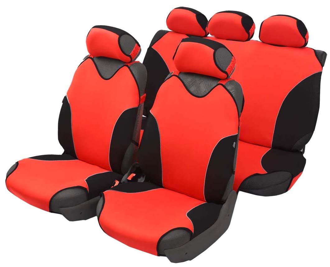 Чехол-майка Azard Turbo, полный комплект, цвет: красный, 4+5 предметовМАЙ00078Универсальные чехлы-майки на сидения автомобиля. Спортивный динамичный дизайн с контрастными боковыми вставками.Чехлы надежно прилегают к автокреслам и не собираются в процессе эксплуатации. Применимы в автомобилях с боковыми подушками безопасности (AIR BAG).Материал триплирован огнеупорным поролоном 2 мм, за счет чего чехол приобретает дополнительную мягкость и устойчивость к возгоранию.Авточехлы майки Azard Turbo износоустойчивы и легко стирается в стиральной машине. Рекомендуется стирка в деликатном режиме.
