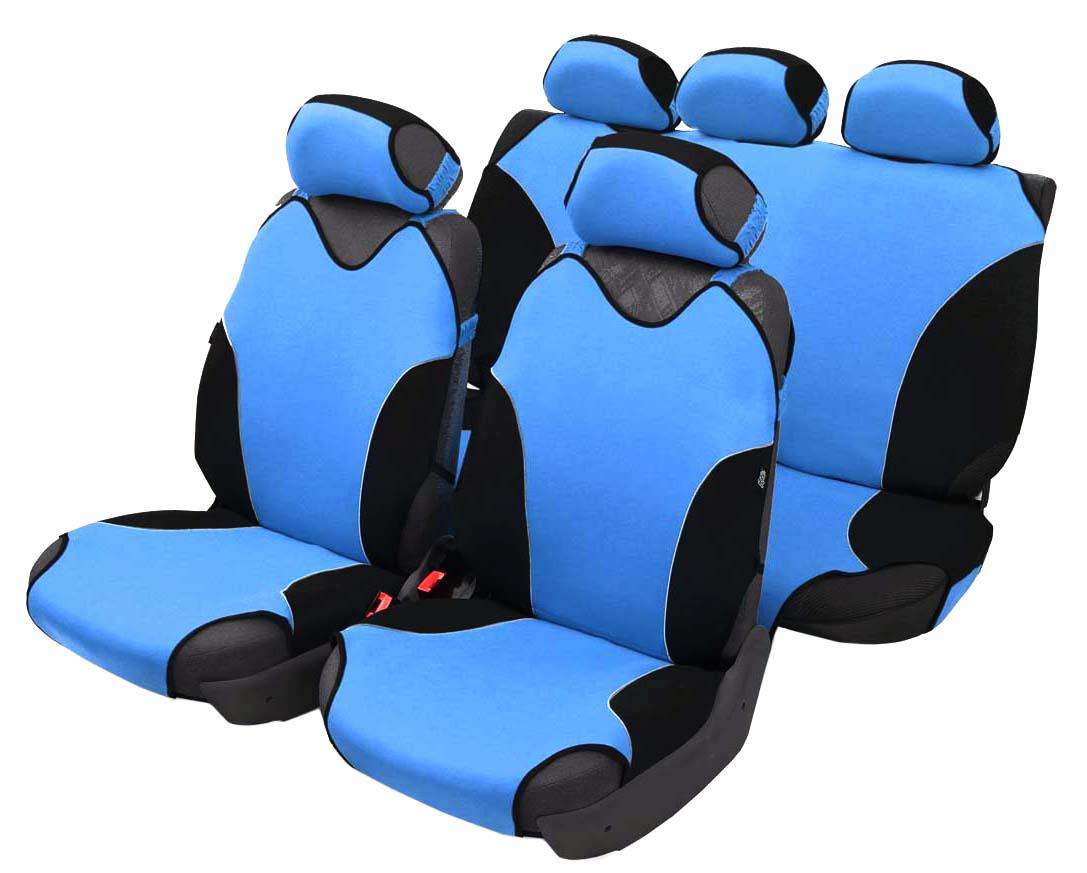 Чехол-майка Azard Turbo, полный комплект, цвет: светло-синий, 4+5 предметовМАЙ00080Универсальные чехлы-майки на сидения автомобиля. Спортивный динамичный дизайн с контрастными боковыми вставками.Чехлы надежно прилегают к автокреслам и не собираются в процессе эксплуатации. Применимы в автомобилях с боковыми подушками безопасности (AIR BAG).Материал триплирован огнеупорным поролоном 2 мм, за счет чего чехол приобретает дополнительную мягкость и устойчивость к возгоранию.Авточехлы майки Azard Turbo износоустойчивы и легко стирается в стиральной машине. Рекомендуется стирка в деликатном режиме.