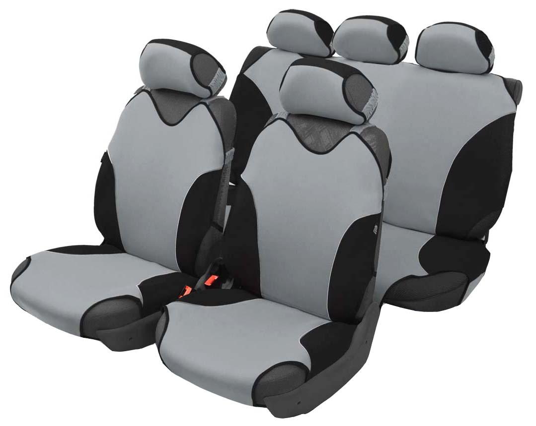 Чехол-майка Azard Turbo, полный комплект, цвет: темно-серый, 8 предметовМАЙ00081Универсальные чехлы-майки Azard Turbo предназначены на сидения автомобиля. Выполнены в классическом однотонном дизайне.Чехлы надежно прилегают к автокреслам и не собираются в процессе эксплуатации. Применимы в автомобилях с боковыми подушками безопасности (AIR BAG).Материал триплирован огнеупорным поролоном 2 мм, за счет чего чехол приобретает дополнительную мягкость и устойчивость к возгоранию.Авточехлы майки Azard Turbo износоустойчивы и легко стирается в стиральной машине.Рекомендуется стирка в деликатном режиме.