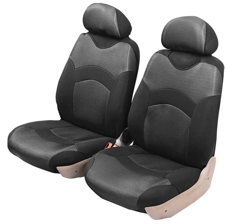 Чехол-майка Azard Revolution, передний комплект, цвет: серый металлик, черный, 4 предметаМАЙ00033Универсальные чехлы-майки Azard Revolutionпредназначены на передние сидения автомобиля. Полностью закрывают сидения.Чехлы надежно прилегают к автокреслам и не собираются в процессе эксплуатации. Применимы в автомобилях с боковыми подушками безопасности (AIR BAG).Материал триплирован огнеупорным поролоном 2 мм, за счет чего чехол приобретает дополнительную мягкость и устойчивость к возгоранию.Авточехлы майки Azard Revolution износоустойчивы и легко стирается в стиральной машине. Рекомендуется стирка в деликатном режиме.