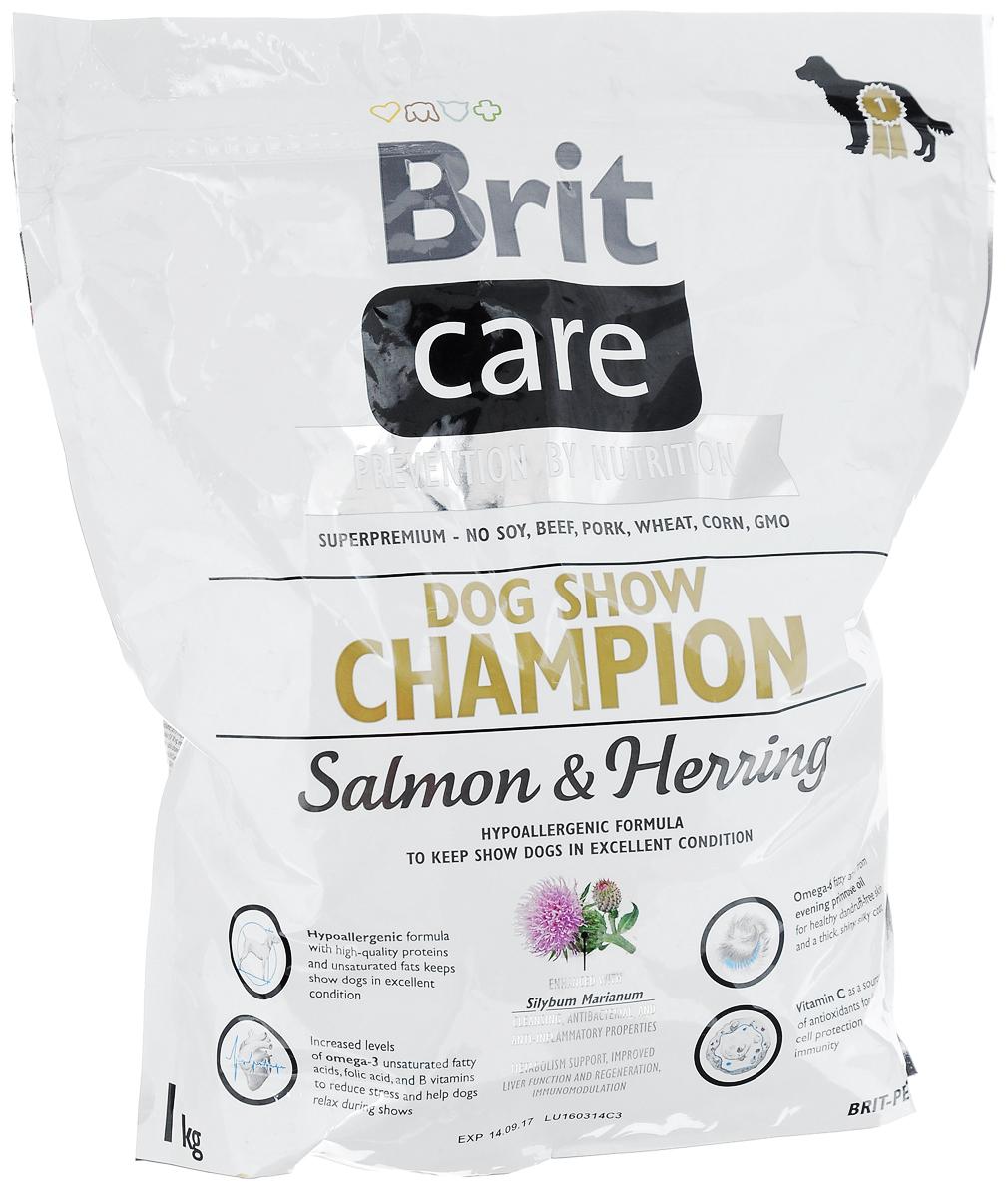 Корм сухой Brit Care, для выставочных собак, с лососем, сельдью и рисом, 1 кг8595602510429Полнорационный, гипоаллергенный корм Brit Care предназначен для взрослых собак всех пород участвующих в выставках. Повышенное содержание витамина С и жирных кислот омега-3 защитят организм собаки от вредного воздействия стресса. Гипоаллергенная формула - мясо лосося и сельди, также подходит собакам с чувствительным пищеварением. Белок из мяса рыб обладает превосходной усвояемостью, что особенно важно в выставочный период, так как собаки часто подвергаются стрессовым ситуациям. Лососевый жир, благодаря содержащимся в нем полиненасыщенным жирным кислотам, благотворно влияет на качество кожи и шерсти животного. MOS (маннан-олигосахариды) поддерживают здоровье кишечника, сокращают патогенную микрофлору.Товар сертифицирован.Чем кормить пожилых собак: советы ветеринара. Статья OZON Гид