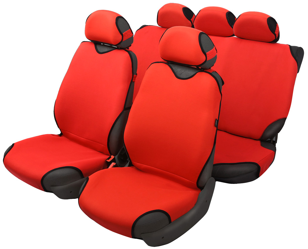 Чехол-майка Azard Sprint, полный комплект, цвет: красный, 4+5 предметовYF75074Универсальные чехлы-майки на сидения автомобиля. Классический дизайн. Чехлы надежно прилегают к автокреслам и не собираются в процессе эксплуатации. Применимы в автомобилях с боковыми подушками безопасности (AIR BAG). Материал триплирован огнеупорным поролоном 2 мм, за счет чего чехол приобретает дополнительную мягкость и устойчивость к возгоранию. Авточехлы майки Azard Sprint износоустойчивы и легко стирается в стиральной машине. Рекомендуется стирка в деликатном режиме.