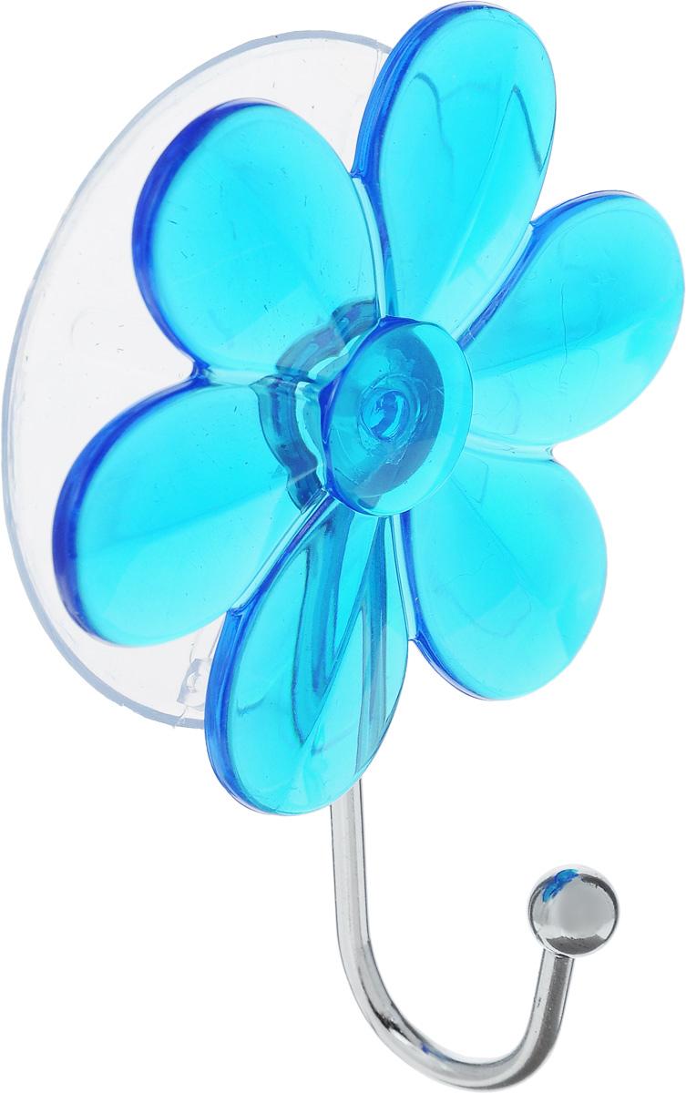 Крючок Top Star Цветок, на вакуумной присоске, цвет: синий, стальной, 6 х 3 х 10 см175332_синийКрючок Top Star Цветок изготовлен из хромированной стали и украшен пластиковой вставкой в видецветка. Крючок крепится к поверхности при помощи присоски. Для надежности крепленияприсоску необходимо устанавливать на гладкой, воздухонепроницаемой, очищенной иобезжиренной поверхности. Такой крючок прекрасно впишется в интерьер ванной комнаты и поможет эффективноорганизовать пространство.