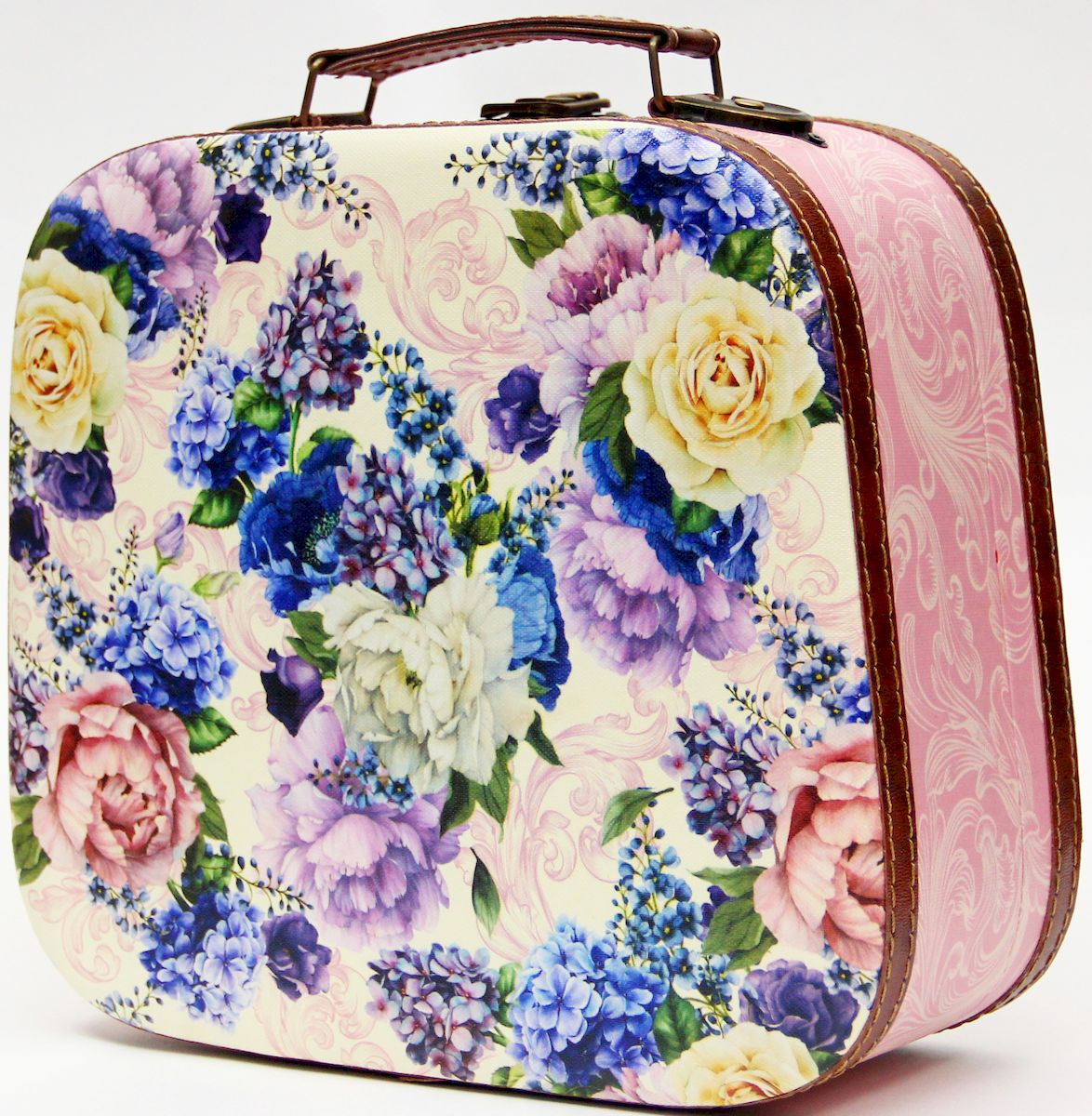 Шкатулка декоративная Magic Home Лиловые букеты, цвет: розовый, 28,5 х 25 х 10,5 шкатулки magic home шкатулка дождь в париже