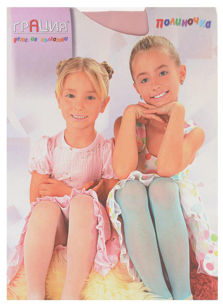 Колготки для девочки Грация Полиночка, цвет: розовый. Размер 116/122, 5-6 летПолиночкаКлассические детские колготки Грация Полиночка изготовлены специально для девочек.Однотонные колготки имеют широкую резинку, укрепленный верх и комфортные плоские швы. Элегантные и комфортные, эти колготки равномерно облегают ножки, не сдавливая и не доставляя дискомфорта. Эластичные швы и мягкая резинка на поясе не позволят колготам сползать и не будут стеснять движений. Входящие в состав ткани полиамид и лайкра предотвращают растяжение и деформацию после стирки. Классические колготки - это идеальное решение на каждый день для прогулки, школы, яслей или садика. Такие колготки станут великолепным дополнением к гардеробу вашей красавицы.