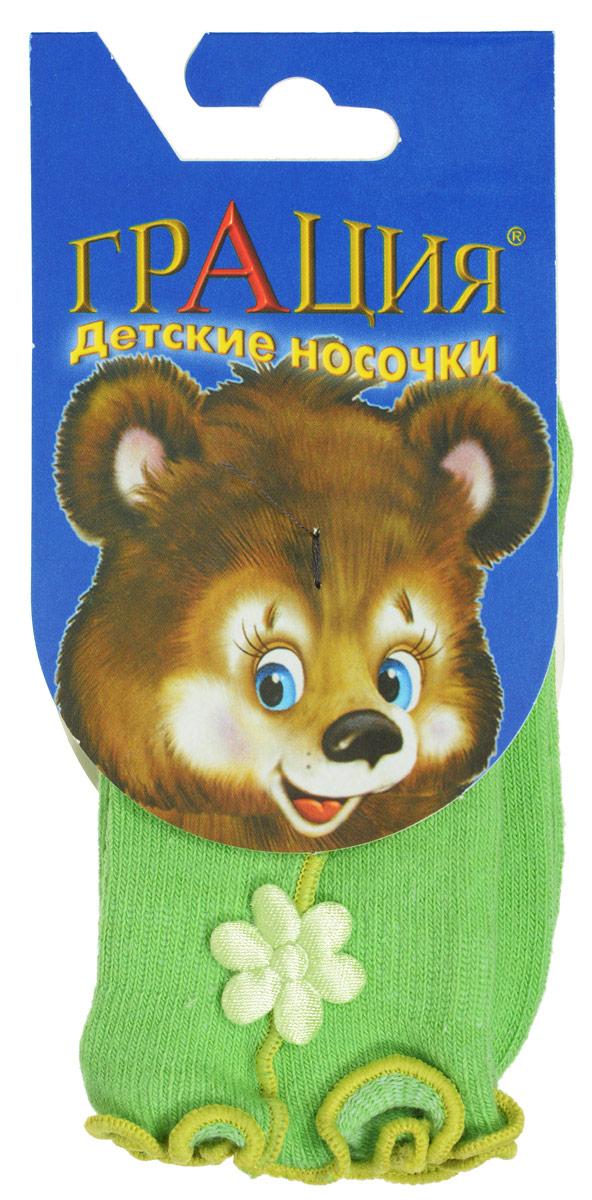 Носки для девочки Грация, цвет: салатовый. Д 2072. Размер 13/15