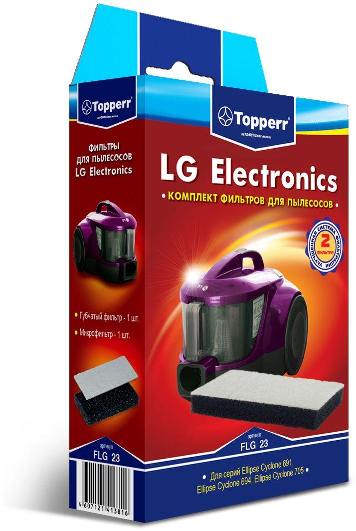 Topperr FLG 23 фильтр для пылесосовLG Electronics1142Комплект фильтров Topperr FLG 23 предназначен для пылесосов LG Electronics.В комплекте 2 фильтра:. Губчатый фильтр - защищает двигатель пылесоса от попадания крупных частиц пыли. Микрофильтр - улавливает мельчайшие частицы.Совместимые модели:Ellipse Cyclone 691: VK 69161, VK 69162, VK69163, VK 69154, VK 69165Ellipse Cyclone 694: VK 69461, VK 69462, VK 69463, VK 69464, VK 69465Ellipse Cyclone 705: VK 70501, VK 70502, VK 70503, VK 70505, VK 70506, VK 70507Ellipse Cyclone: VC 22161, VC 23201, VC 23202