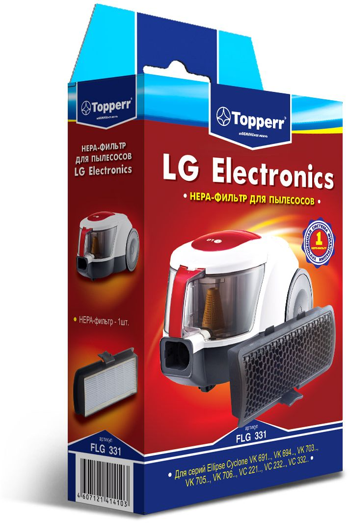 Topperr FLG 331 HEPA-фильтр для пылесосовLG Electronics topperr flg 33