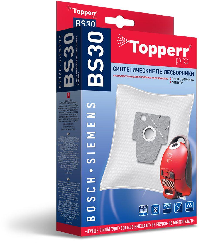 Topperr BS30 фильтр для пылесосовBosch, Siemens, 4 шт topperr bs 3 фильтр для пылесосов bosch siemens 4 шт