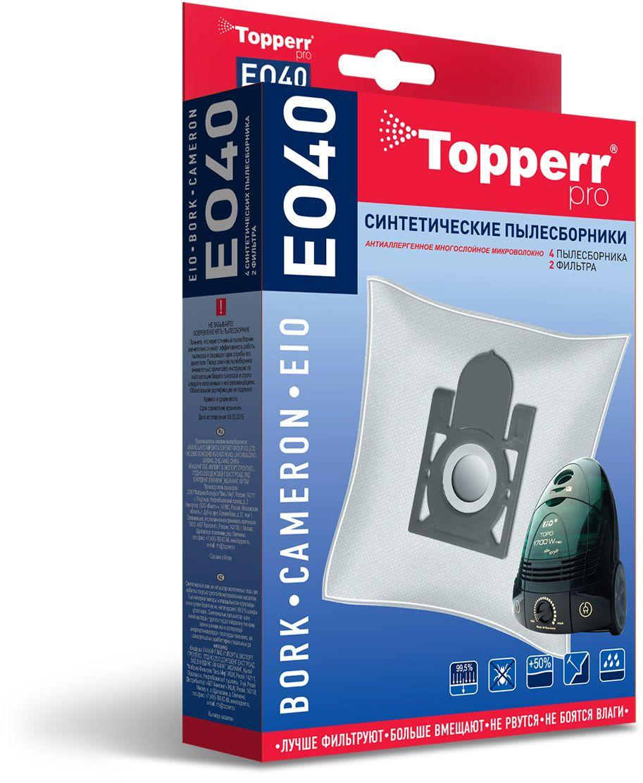 Topperr EO40 фильтр для пылесосов Eio, Cameron, 4 шт topperr fu 1