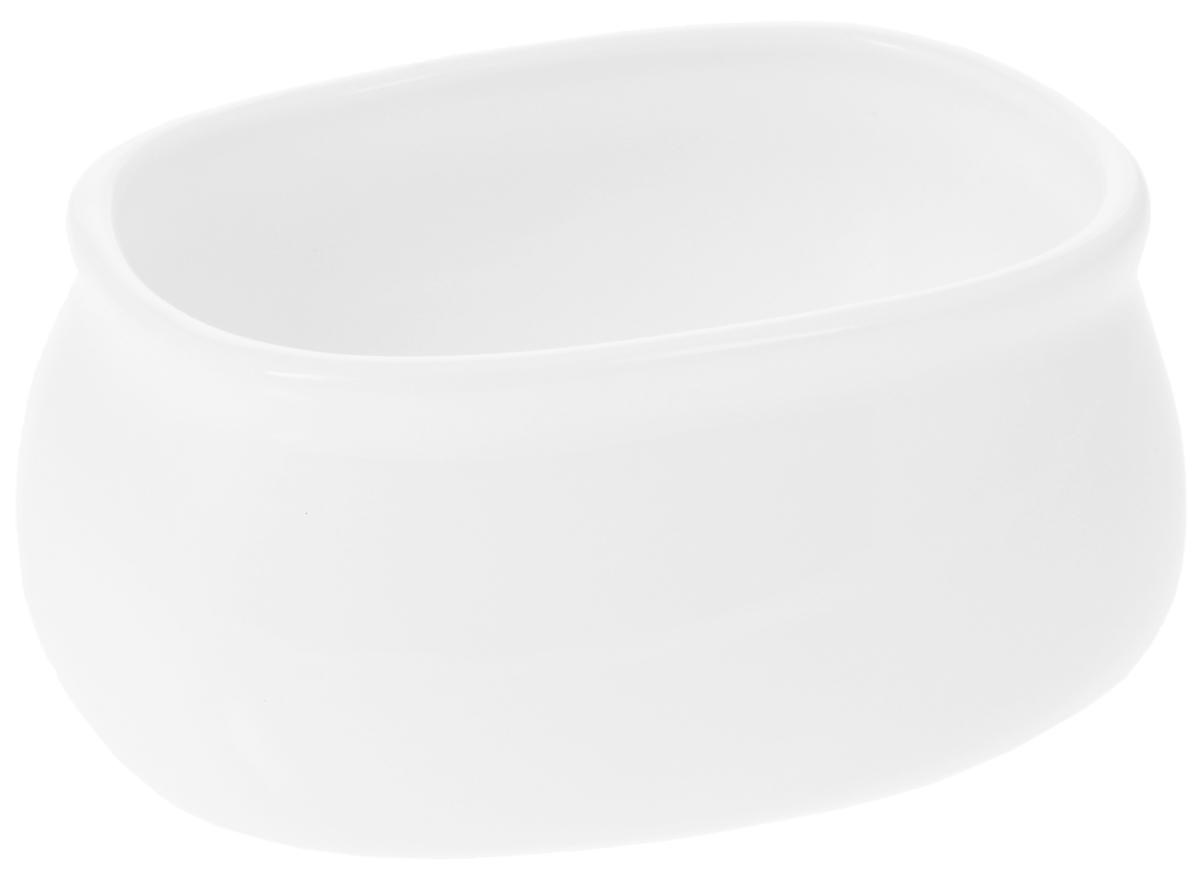 Сахарница Wilmax, 120 млWL-996037 / AСахарница Wilmax выполнена из высококачественного фарфора с глазурованным покрытием. Изделие имеет элегантную форму и может использоваться в качестве креманки.Сахарница Wilmax станет отличным дополнением к сервировке семейного стола и замечательным подарком для ваших родных и друзей.Размер сахарницы (по верхнему краю): 9 х 6,5 см. Высота стенки сахарницы: 4,5 см.