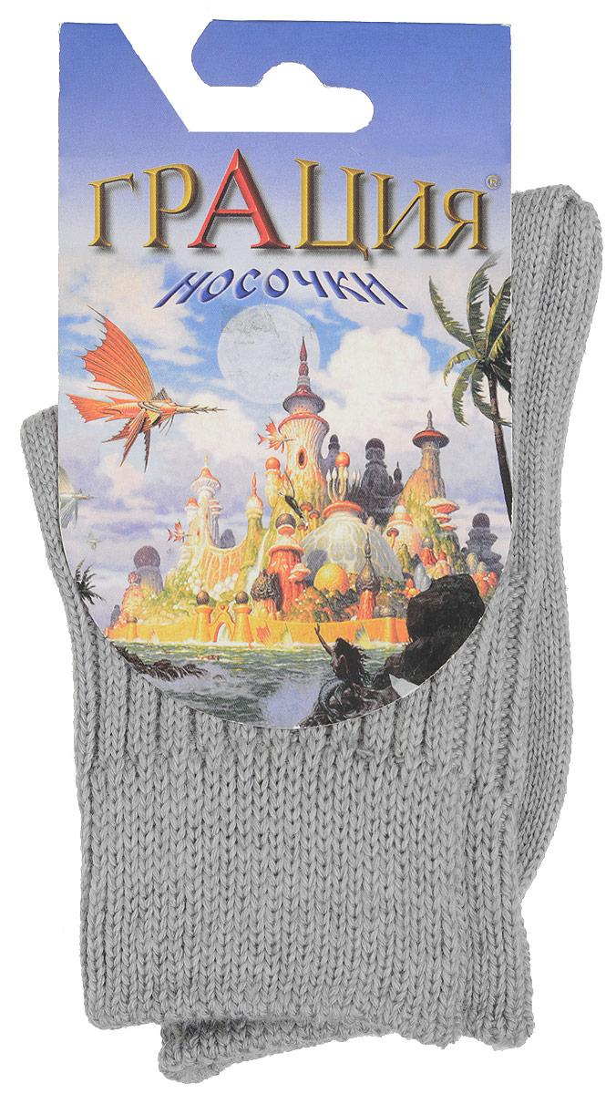 Носки для девочки Грация, цвет: светло-серый. Д 2305. Размер 16/18